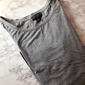Forever 21 Grey & Black Long Sleeve Swing Top